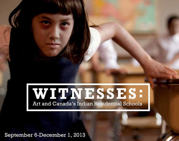 "Lisa Jackson, Savage, 2009.  Production still from video.  From the exhibition ""Witnesses: Art and Canada's Indian Residential Schools"", Morris and Helen Belkin Art Gallery, University of British Columbia (September 6-December 1, 2012)."