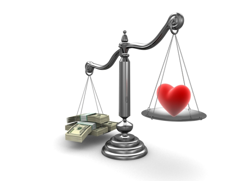 heart versus money