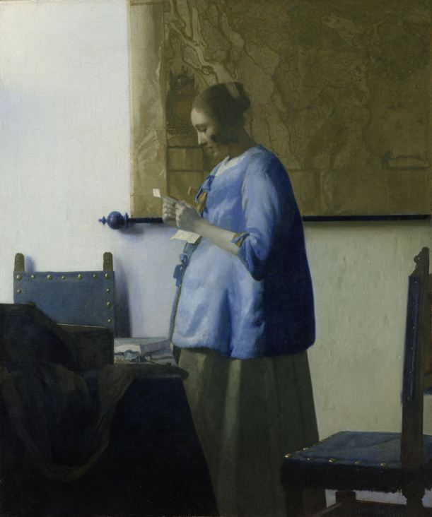 Woman reading a letter.  Johannes Vermeer, 1663.  Rijksmuseum, Amsterdam.